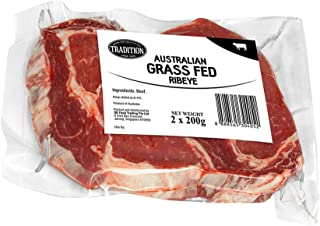 Tradition Australian Chilled Grass Fed Beef Ribeye, 200g (Pack of 2)
