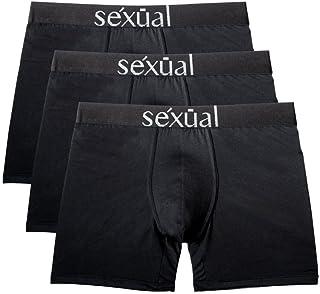 Michel Germain Mens Underwear, Boxer Briefs, Sexual Black Boxer Briefs