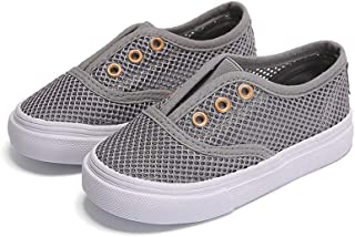 Slip on Mesh Sneakers for Boys and Girls Comfortable Walking Shoes(Toddler/Little Kids)