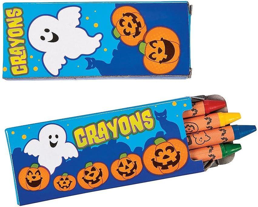 Ojis Ecart Award 48 Set 4-Color Crayons Oklahoma City Mall Halloween