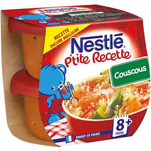 Nestlé Bébé P'tite Recette Couscous - Plat complet dès 8 mois - 2 x 200g - Pack de 8 ( 16 Plats )