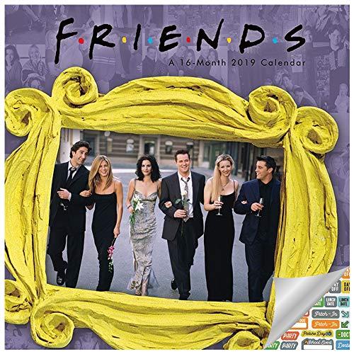 Friends Calendar 2019 Set - Deluxe 2019 Friends TV Show Wall Calendar with Over 100 Calendar Stickers (Friends TV Show Merchandise and Office Supplies)