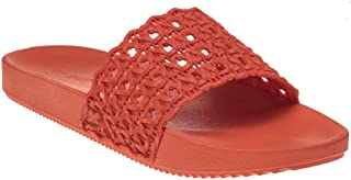 Zaxy Snap Mesh Slide Womens Sandals Orange