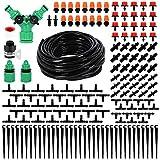 Keyohome 159Pcs Kit d'irrigation Goutte, Kit d'irrigation Goutte à Goutte Automatique avec 40m Tuyau, Système d'irrigation de Jardin, Kit arrosage Automatique pour Jardin pelouse Serre Plantes
