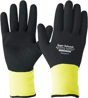 おたふく手袋 ソフキャッチ 防寒手袋 W保温 防水・防風 エクストリームウォームオールコート ブラック×イエロー M A-367