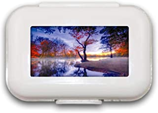 Mooie Scenery Pill Box Pill Case Pill Organizer Decoratieve Boxen Pill Box voor Pocket of Purse - 8 Compartiment Pill Box/...