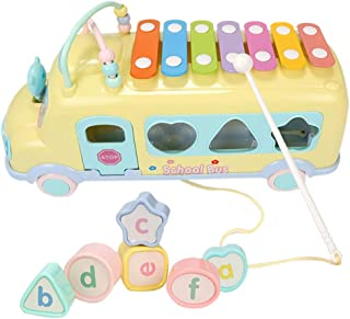 Jaromepower New Simulation Piano Developmental Toys Rainbow Piano Car Toy Kids Early Educational Learning Music -Child Gift