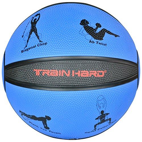 TrainHard Medizinball Gewichtsball 1kg 2kg 3kg 4kg 5kg 6 kg 7kg 8kg 9kg 10kg 12kg aus hochwertigem Gummi, rutschfest, Studioqualität, optional: Medizinbälle Ständer für 10 Bälle (Medizinball-Ständer)