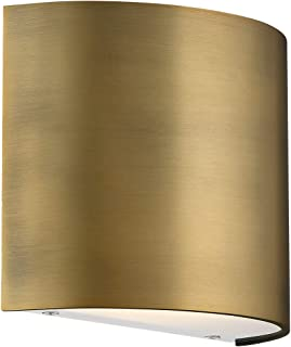 WAC Lighting WS-30907-AB DweLED Pocket 7in LED Wall Sconce in Aged Brass Light Fixture,