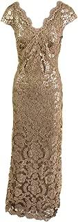 Tadashi Shoji Women's Sequin Lace Cap SLV Dress