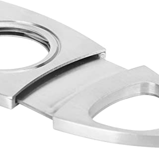 Cigar Cutter, Silver Cigar Scissors Stainless Steel Portable Mini for Smoking Accessories for Cigarette Cutter for Smoker ...