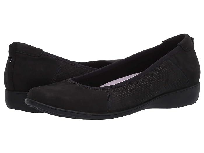 Aravon  Abbey Ballet (Black) Womens Flat Shoes