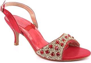 Unze Women FIA Open Toe Kitten Heel Sandals UK Size 3-8 - Ak-022.2