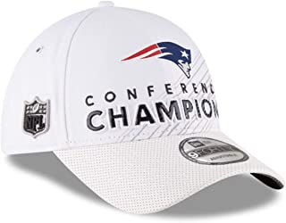 New Era NFL New England Patriots 2016 Conference Champions Trophy Collection Locker Room 9FORTY Hat White Adjustable
