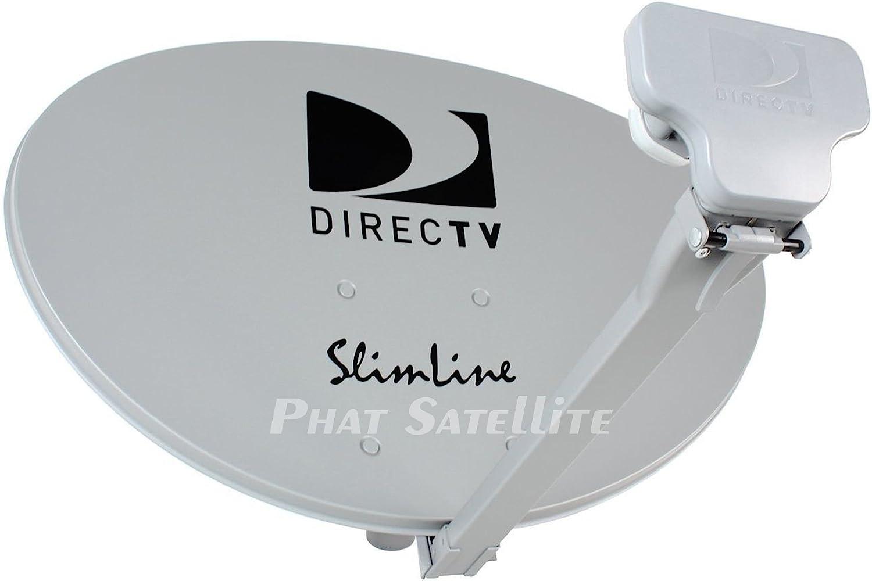 DIRECTV 1 Translated 3LNB Slimline Dish KAKU SWM3 Inexpensive Only STUB HD F Short ROOF
