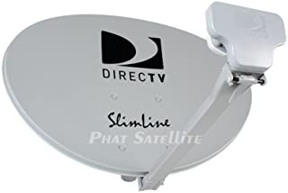 Ready to Install Package : Directv HD Satellite Dish w/ SWM3 LNB + RG6 COAXIAL Cables Included Ka/ku Slim Line Dish Antenn...