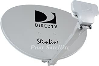 DIRECTV 1 3LNB Slimline Dish KAKU SWM3 HD Short ROOF Only STUB Foot 4Way