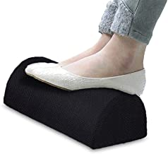 Awhao Office Foot Rest Cushion Soft Breathable Washable for Home and Office Slow Rebound Elastic Cotton Footrest Pad Black