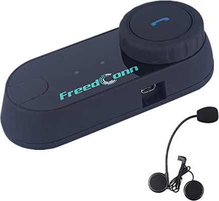 FreedConn BT Motorcycle Intercom Motorbike Helmet Bluetooth Intercom Communication System Interphone Headset Great for Riding,Skiing
