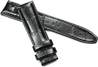 Maurice Lacroix - Correa de piel para hombre (21 mm), color negro