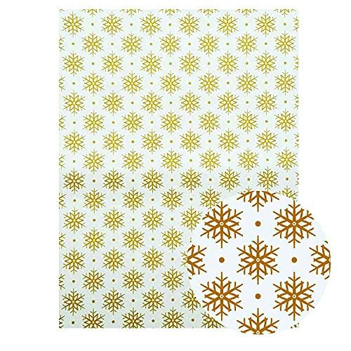 VIAIA Navidad Impreso Tela de Cuero de imitación Muñeco de Nieve Bells Pattern PU Cuero DIY Pendiente de Pelo Materiales de Arco de Pelo Cuero sintético (Color : 04)