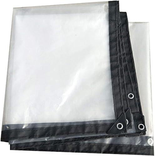 WHYDIANPU Tarpaulin Bordure épaisse Transparente perforée Isolation résistant à la Pluie Toile de Plastique fenêtre Balcon Culture de Serre Film Various Tailles