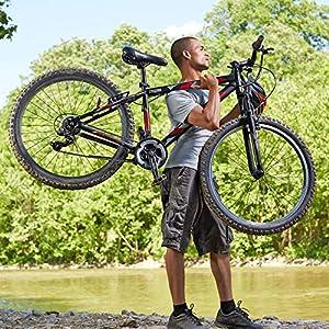 Huffy Hardtail Mountain Trail Bike 24 inch, 26 inch, 27.5 inch, 27.5 Inch Wheels/17.5 Inch Frame, Matte Black