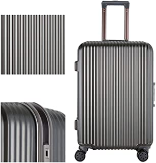 Luggage Male Business Trolley Suitcase Female Universal Wheel Travel Box Aluminum Frame Password Luggage Luggage Gray 24 inch