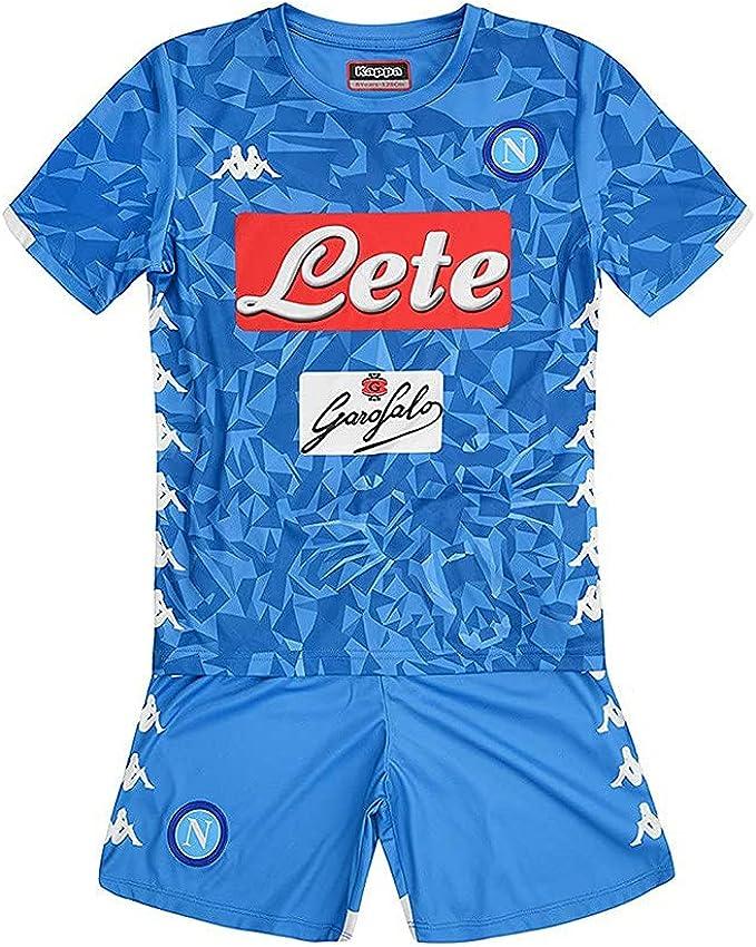 SSC Napoli kit Equipación de juego local junior azul