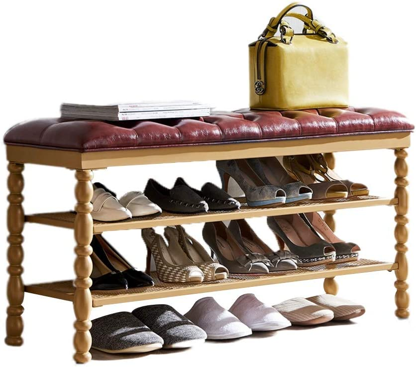 Storage Benches Iron Bench Ranking TOP14 3-tier Shoe Hallway Rack Max 46% OFF Stor