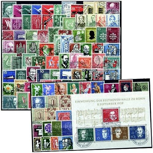 Goldhahn BRD 1955-1959 gestempelt kpl. ohne Dauerserienwerte Briefmarken für Sammler
