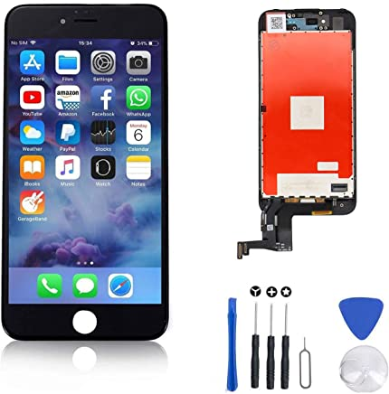 93c16190c63 FFtopu Compatible for Screen Replacement for iPhone 7 Plus in Black,  Including All Tools,