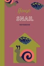 Snail house notebook: Blank Lined journal ideas for animal lovers
