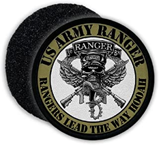 US Army Ranger Lead the Way HOOAH America Badge Skull Crest Emblem - Patch/Patches