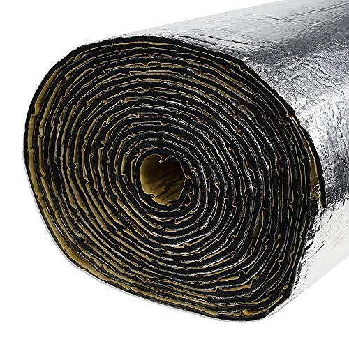 SHINEHOME 236mil 16.68sqft Car Sound Deadener Heat Insulation Mat Noise Proof Mat Heat Protector Mat Audio Noise Insulation Material Car Sound Dampening Deadening Material 61 x 40 Inches
