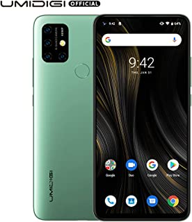 """UMIDIGI Power 3 6150mAh Monster Battery Unlock Cell Phone, 48MP Ultra Wide Macro Quad Camera, 6.53"""" FHD+ Android 10 Mobile 4G+64GB Phone 2 + 1 Card Slots, 18W Fast Charging(Support Reverse), Green"""