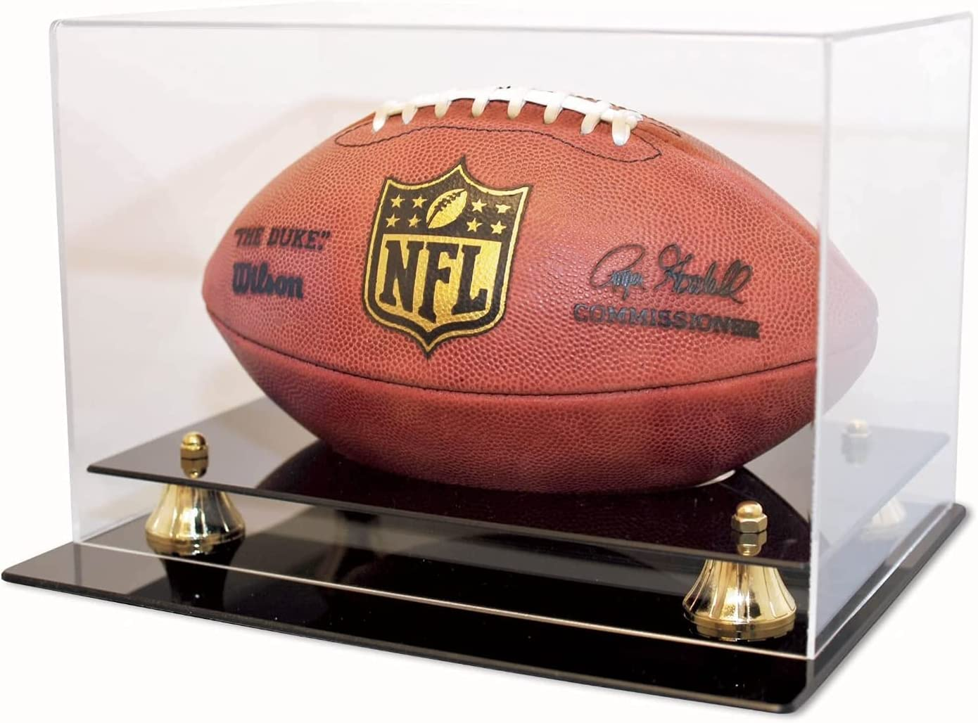 Collectible Supplies Football Display Case Max 83% OFF UV Holder Inexpensive Protect 98%