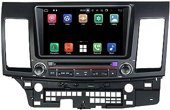 Android 10.0 Autoradio Coche para Mitsubishi Lancer(2006-2018), 4 GB RAM 32 GB ROM, 8 Pulgadas Pantalla Táctil Reproductor de DVD Radio Bluetooth Navegación GPS