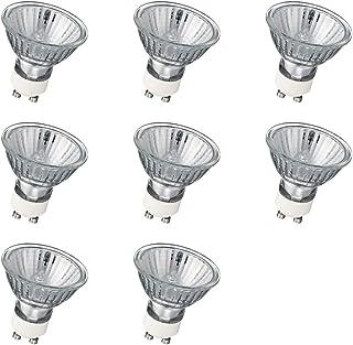 Bombillas GU10 Halogena, Bombilla GU10 Halogena 50W, Regulable GU10 Halogena Transparente, Blanco Cálido 2700K, 8 Piezas, 230V