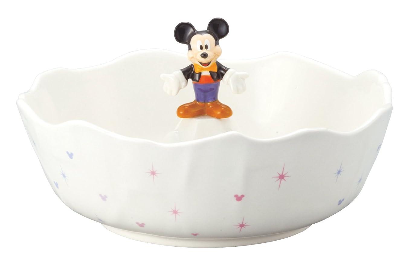 その他労働フラスコディズニー  ミッキーマウス そうめん鉢 中鉢 白 直径 20cm SAN2308