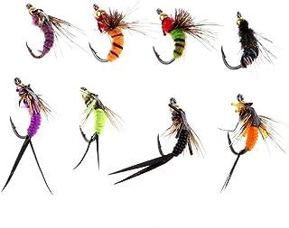 F-JIUJIN, 40pcs Wet Fishing Flies Bionic Insect Nymph Flies Bait Fly Fishing Lures Kit