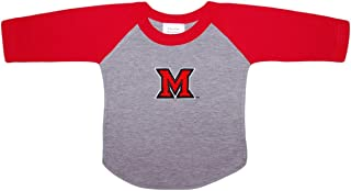 Miami University MU Redhawks Baby and Toddler 2-Tone Raglan Baseball Shirt