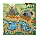 Melissa & Doug Prehistoric Playground Dinosaur Activity Rug (99 x 91 centimetres) -4 Toy Animals Alfombra con Dinosaurios Jugar, Estampado, Multicolor (19427)