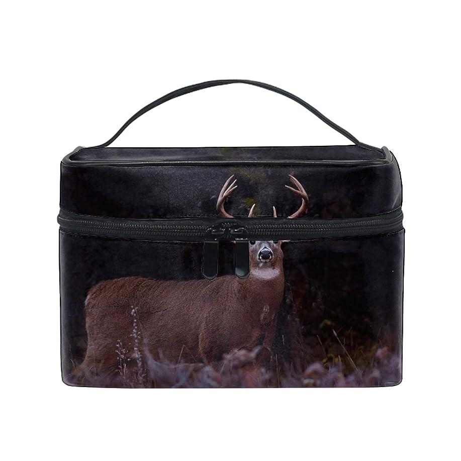 彼らのマニュアルトン鹿化粧ポーチ メイクポーチ コスメポーチ 化粧品収納 小物入れ 軽い 軽量 防水 旅行も便利