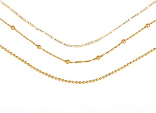 New India Fancy Stylish Gold-Plated Brass Chain combo pack of ladies