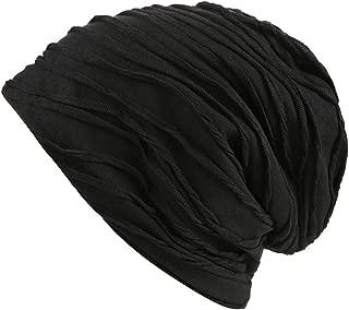 Unisex Slouchy Beanie Skull Stylish Wrinkled Lightweight Thin Cap Accessories Hat
