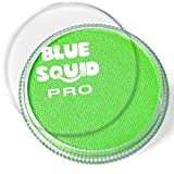 Blue Squid PRO Face Paint - Classic Bright Lime Green (30gm), Quality Professional Water Based Single Cake, Face & Body Makeup Supplies for Adults, Kids & SFX