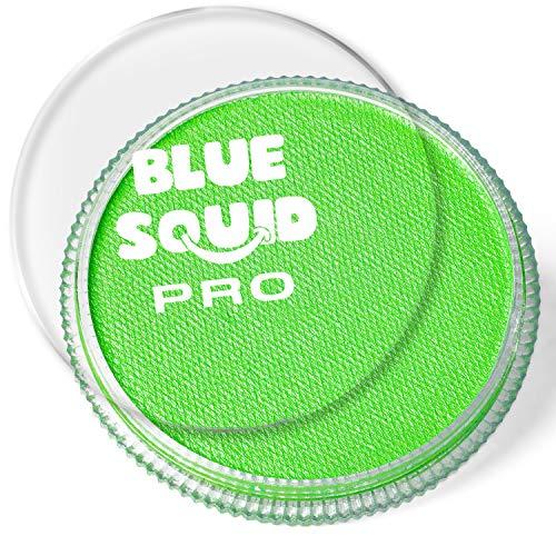Blue Squid Schminke Face Paint und Bodypaint - Klassisch Hellgrün 30g, PRO, Hochwertige, professionelle, wasserbasierte Einzelbehälter, Face und Bodypaint Farbe für Erwachsene, Kinder und SFX