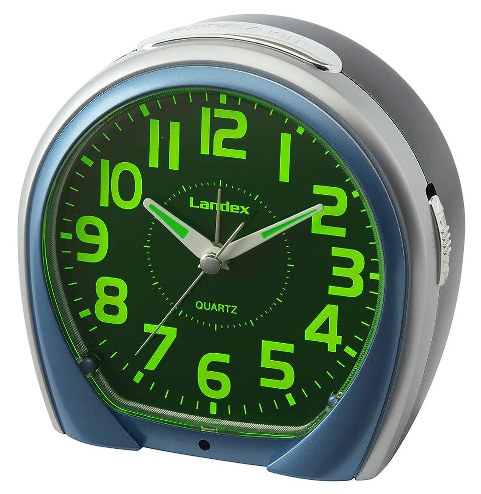 勝者打倒差別するランデックス(Landex) 目覚まし時計 エブリビュー 非電波 連続秒針 常時点灯 集光 ブルー YT5268BU