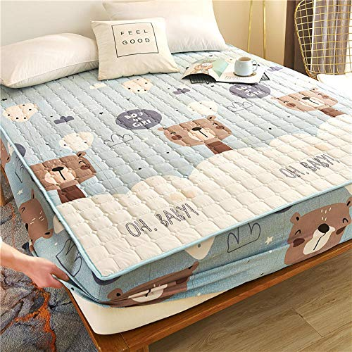 HPPSLT Unterbett Soft-Matratzen-Topper, Matratzenschutz Boxspring-Betten geeignet Wasserdichtes Dickes Bettlaken einteilig - 9_90 cm × 200 cm